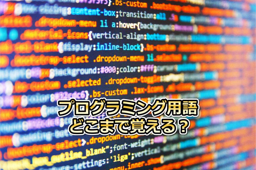 プログラミング用語
